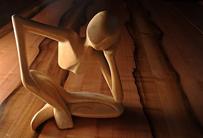 thinking wooden man