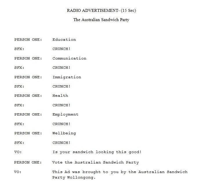 radio ad sample