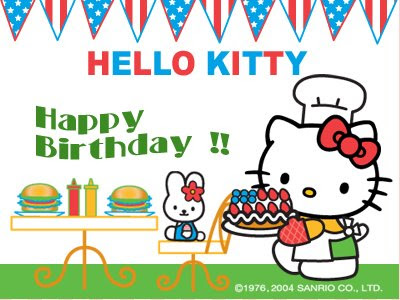 I hope you like the Hello Kitty birthday card from us to you :) haha