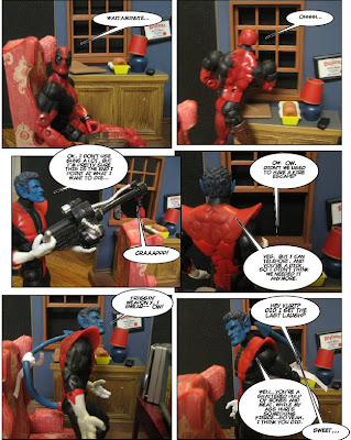 And at least part of Nightcrawler's line with the gun swipes from Homer Simpson, but really, isn't it hard not to?