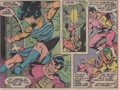 Again, why is Superman so hung up on giving Lois powers, when she can make that jump, unhurt, and without her skirt flying up?