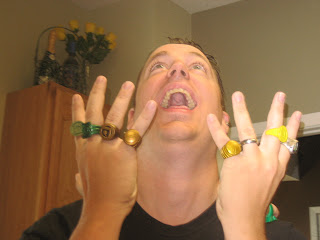 Ten damn rings, and the wedding band's the only one that works.  The Mandarin totally owes me a refund.