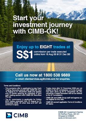 CIMB-GK $1 commision poster