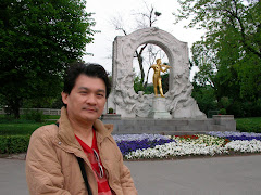 with Mozart in the park,  Vienna, Austria, 2010