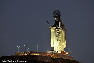 Estátua de Santa Rita em Santa Cruz-RN
