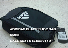 ADDIDAS BLACK SHOE BAG