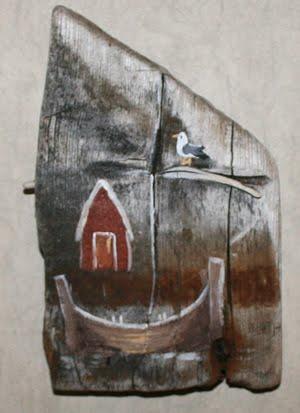 Naust og båt