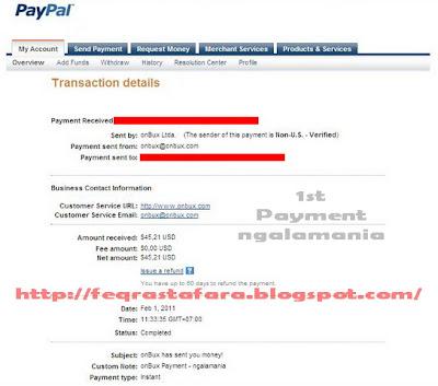 Payout 1st Onbux 010211 ngalamania
