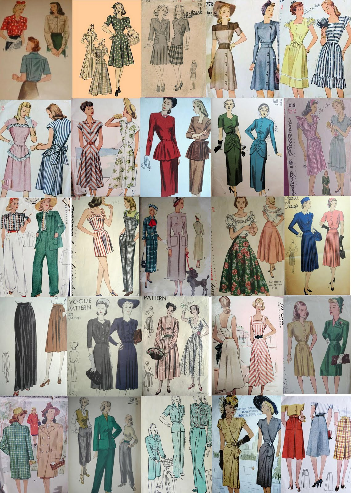 Forties fashions 1940 s fashion designs for sewing patterns