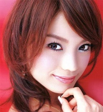 A young Girl with Japanese Anime Hairstyle. Cute Japanese Anime Hairstyle