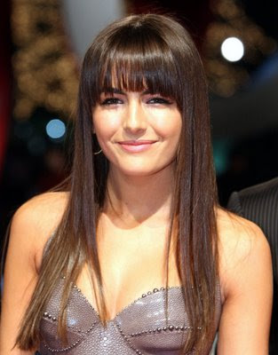full bangs hairstyles. Ultra-feminine