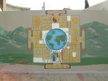 """Muredón """"Marcha mundial por la paz"""""""