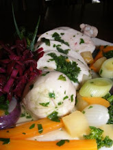 STUFFED POACHED BREAST OF CHICKEN