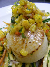 SEARED SCALLOPS WITH CORN SALSA