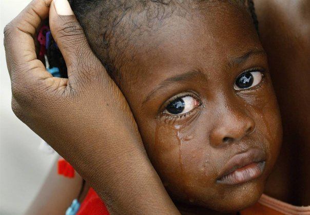 Jan. 12 Quake Terrifies Children: Sponsor a Hungry Child To Dry the Tears Off her Eyes
