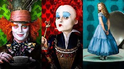 Johnny Depp, Helena Bonham Carter e Mia Wasikowska