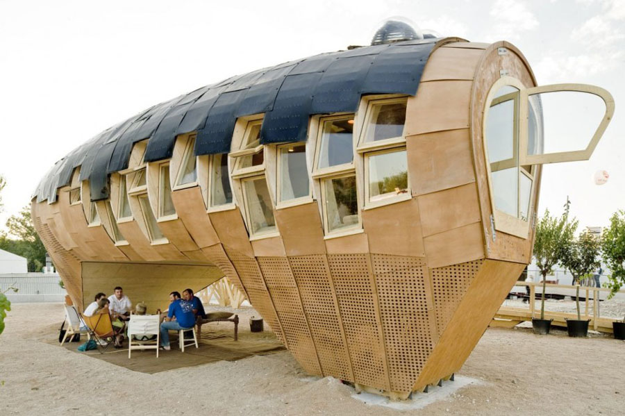 Archi choong solar energy design the fab lab house by iaac for Solar powered home designs