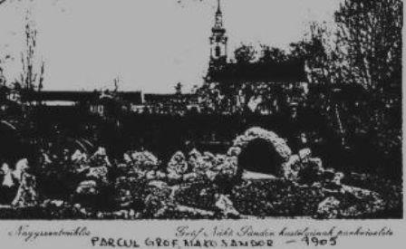 Parcul si castelul la 1905