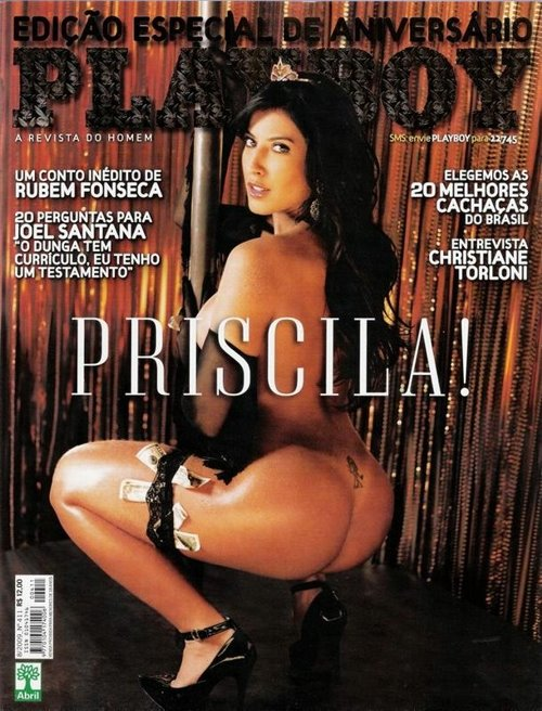 Priscila BBB9 Playboy de Agosto Fotos