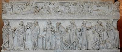 Sarcófago de las Musas Museo de Louvre