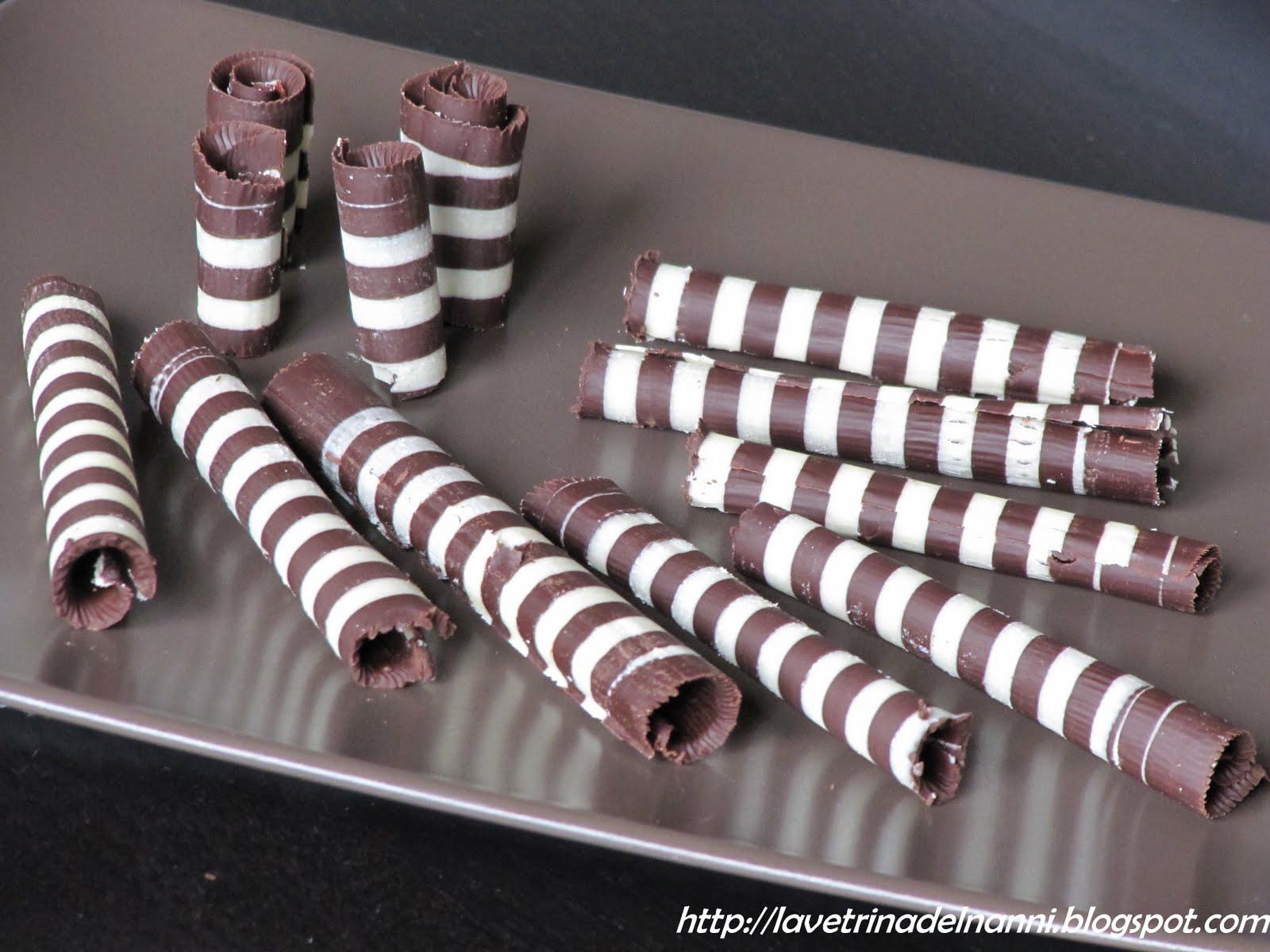 La vetrina del nanni sigari bicolori di cioccolato for Decorazioni di cioccolato per torte