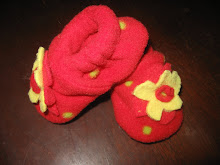 Flowered Fleece Shoes