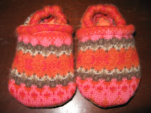 Pink & Red Patterned Wool Shoes