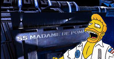 Oh my gosh, I was wrong - It was the SS Madame de Pompadour, all along, you finally made a spaceship out of meeeeeee...