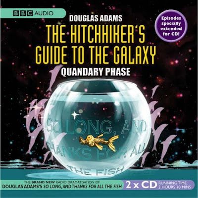 The CD cover for The HitchHiker's Guide To The Galaxy - Quandary Phase.  I was listening to the transmitted version.