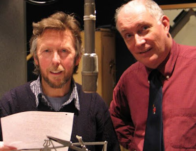 David Dixon and Simon Jones recording The HitchHiker's Guide To The Galaxy - Quandary Phase