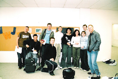 Left to right: Dean, Fraser, Neville, Mike, Sasha, Janine, Linda, Gillian, me and Greg