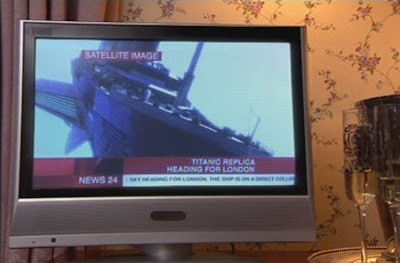 How is even a satellite supposed to have filmed this shot of a boat falling from the sky?