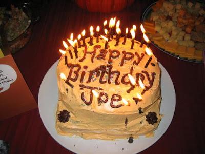 Joes birthday cake.