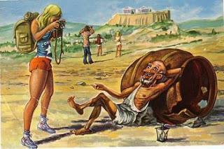 Un Diógenes hedonista, ¿se lo montaría con la turista?