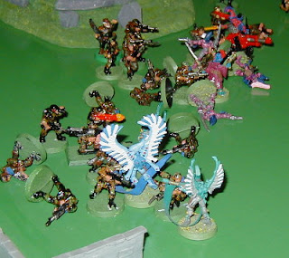 The Storm Squad and the Swooping Hawks assault the Imperial lines, only to be beaten off