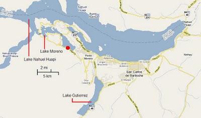 Bariloche map