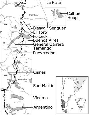 South Patagonia lakes