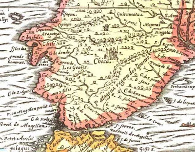 Thevet map 1575