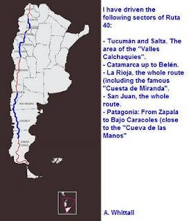 Ruta 40 - map