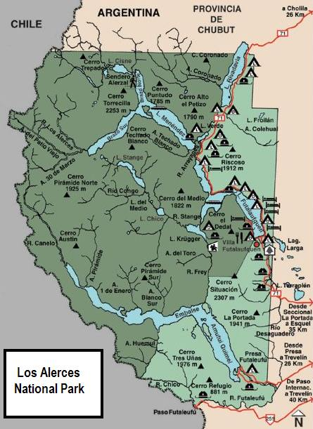 July Patagonian Monsters - Map argentina national parks