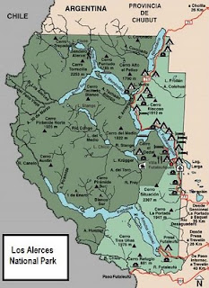map of Los Alerces National Park