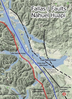 Faults Lake Nahuel Huapi