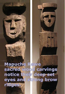 rewe mapuche wood sculpture