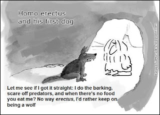 homo erectus and dog