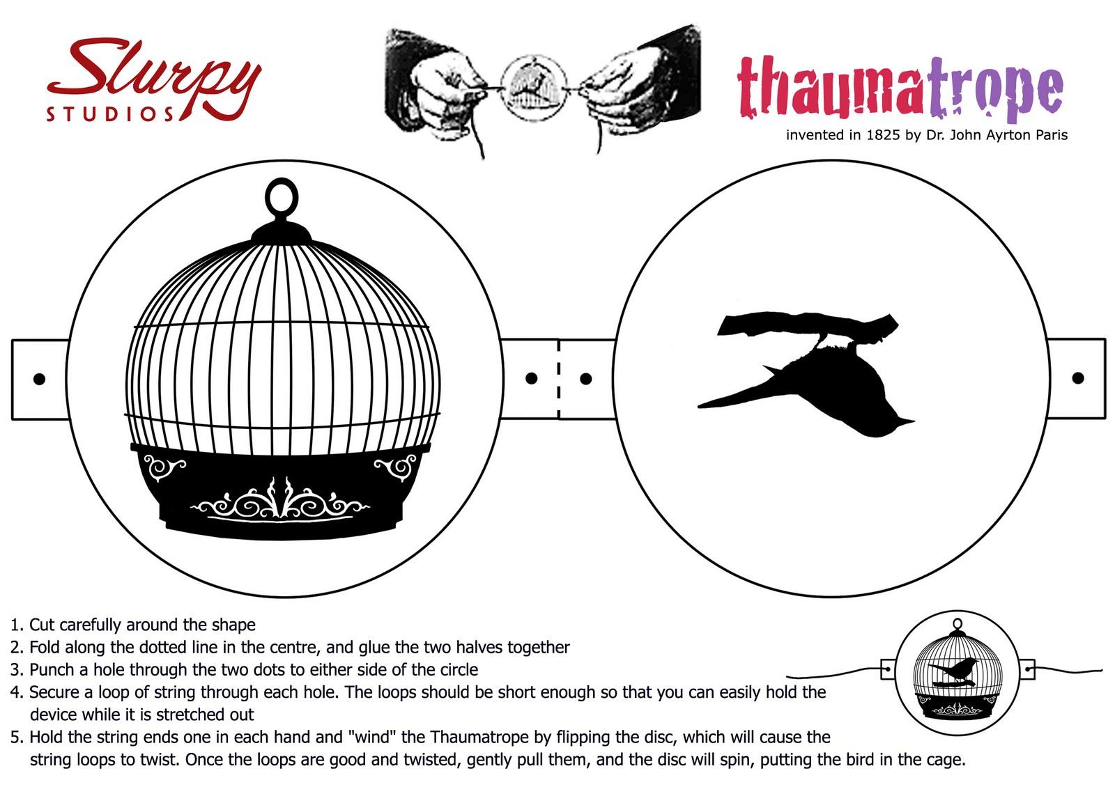 Critical image with regard to thaumatrope printable