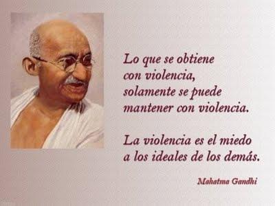 2 de Octubre - Día internacional de la No Violencia.