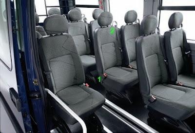 Sièges arrières Master bus 16 places France