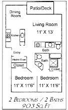 standard floor plan for the Fir Villa Apts.