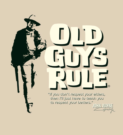 day present was an old guys rule t shirt