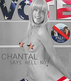 Chantal in anti-Palin campaign